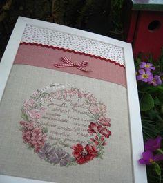 Couronne fleurie - Mon journal au point de croix de VE