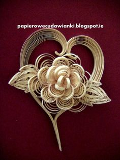 #papercraft #Quilling. Panels - with the bulk of the heart with flowers (41) (525x700, 286Kb)