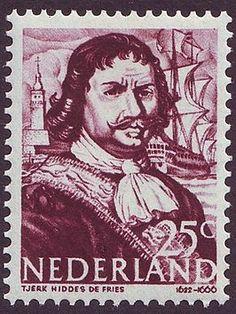Tjerk Hiddes de Vries op een Nederlandse postzegel uit 1943