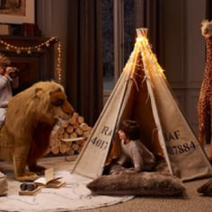 Restoration Hardware - safari themed playroom