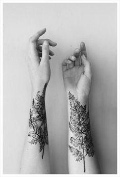 Chic Plant Tattoo Design
