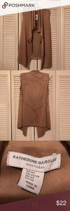NWT Suede Vest NWT Katherine Barclay Suede Vest Camel/Tan Size Extra Small Katherine Barclay Jackets & Coats Vests