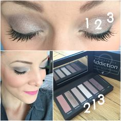 Here are the 3 shades I used today on my eyes from the Addiction Shadow Palette 3. Makeup by numbers, 1,2,3 - how easy is that?!! These mineral shades are super pigmented and so easy to apply #mineralmakeup #eyeshadowpalette #easyeyeshadow