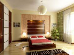 Asian inspiration with Japanese lantern and modern design - homeyou ideas #bedroom #interiordesign #homedecor