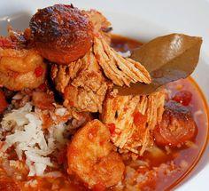 Ham, Andouille, Shrimp and Chicken Jambalaya Recipe / @DJ Foodie / DJFoodie.com