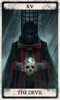 Bloodborne tarot XV by Wingless-sselgniW on DeviantArt - Modern Bloodborne Concept Art, Bloodborne Art, Dark Fantasy Art, Dark Art, Arte Dark Souls, Soul Game, Old Blood, Arte Cyberpunk, Arte Obscura