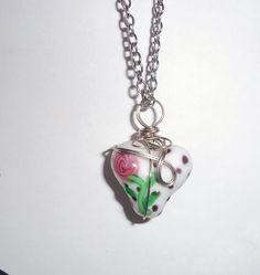 Rose bead necklace by SpareTimeDesignsMI on Etsy, $12.50