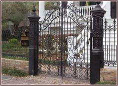 Exotic Wrought Iron Dog Gates