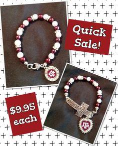 Texas A&M Charm Bracelet by sassygirlsx3 on Etsy, $9.95