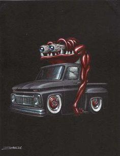 Very cool Rat Rod art.