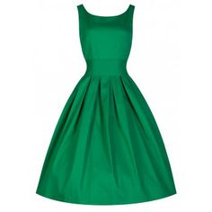Lana Medium Green Swing Dress | Vintage Inspired Fashion - Lindy Bop