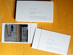 stitched business cards