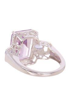 Olivia Leone Sterling Silver Amethyst & Tanzanite Ring