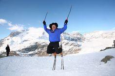 #artfurrer #crazyswiss erfinder der #skiakrobatik #aletscharena