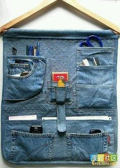 Jeans and a wooden hanger!
