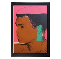 """Andy Warhol was never that interested in sports, however he was drawn to the fame that surrounded celebrity athletes. Warhol created the """"Athletes"""" series in the late 1970's, a project originally started by Richard Weisman, an art collector and avid sports admirer. Ali was not especially keen on Warhol, and he proved to be a difficult subject for the artist to work with. Warhol prevailed, creating a series of screenprints focused on Ali, with this particular image exemplifying t..."""