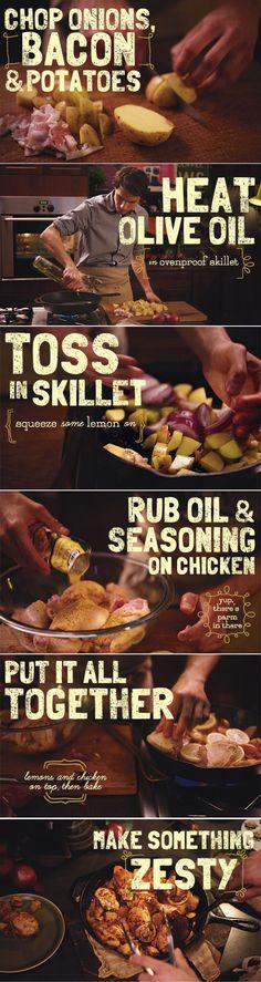 Lemon Roasted Tuscan Chicken