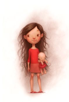 """A new book I illustrated came out today! """"The Girl Who Wouldn't Brush Her Hair"""" was such a great project to work on. http://www.amazon.com/gp/product/037586878X/ref=as_li_ss_tl?ie=UTF8&camp=1789&creative=390957&creativeASIN=037586878X&linkCode=as2&tag=wwwagent44com-20"""