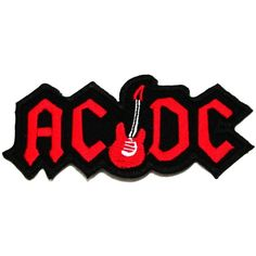 AC/DC(guitar) Hard Rock Band Embroidered Iron on Sew on Patch Iron-on... ($6) ❤ liked on Polyvore featuring fillers