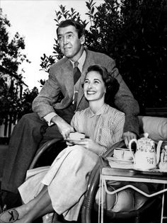 """James Stewart with wife, Gloria / Unlike many Hollywood couples, they remained married until her death in 1994 at age 75. Jimmy died in 1997 (age 89). His last words were, """"I'm going to be with Gloria now."""""""