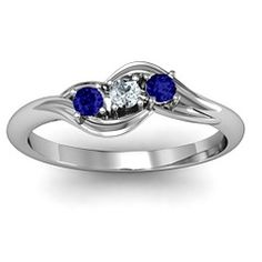 Three Stone Bypass Swirl Ring #jewlrvday