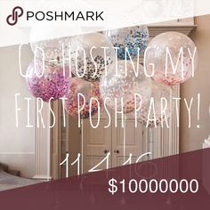 Co-Hosting A Party! THEME TBA I'm co hosting my very first posh party!! Come party with me Friday, Nov 4th at 7pm pst or 10pm eastern time. 🎉🎉  To be considered for a host pick, ❤️Please Like & Share this post  ❤️ Tag you and your friends closet below!  ❤️Posh compliant closets only ❤️ Please let me know if you've never had a host pick or have had only a few. I want at least 1/4 of my picks to go new closets!!  **I won't be selecting host picks until I know the theme but I will be on the…