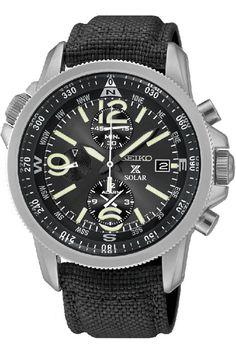 Seiko SSC293P2 Prospex Men's Solar Military Alarm Chronograph 100m Water Resistant,SSC293P2