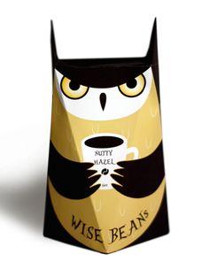 A Cute, Owl-Shaped Packaging For A Coffee Bean Brand - DesignTAXI.com
