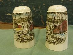 Johnson Brothers The Friendly Village Salt and Pepper Shakers