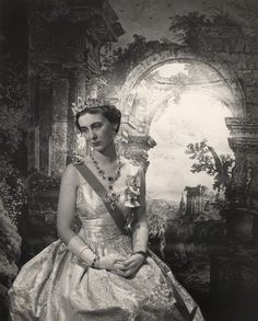 Princess Marina Duchess of Kent by Cecil Beaton.She wears the Cambridge sapphires given to her by her mother-in-law Queen Mary