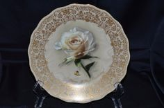 "Bradford Exchange Collection Diana ""A Rose Everlasting"" Musical Porcelain Plate by BigBlossomAntiques on Etsy"