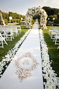 35 Excellent Dreamy Secret Garden Wedding Ideas with Invitations--blush petals lined wedding aisle and floral adorned wedding arch for outdoor wedding ceremony Wedding Ceremony Decorations, Wedding Themes, Wedding Blog, Wedding Venues, Wedding Photos, Dream Wedding, Wedding Day, Trendy Wedding, Diy Wedding