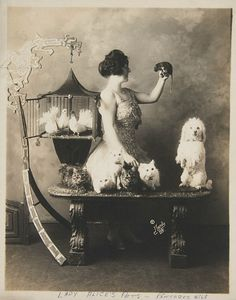 Lady Alice's Pets by Moody Studio, c. 1920        A rat in the hand is worth two in the bush…