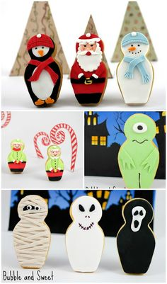 Bubble and Sweet: Babushka nesting doll cookie cutter used for penguin, Santa, snowman, mummy, ghost and more.
