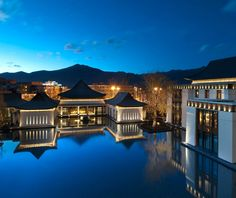 The five-star St Regis Lhasa hotel in Tibet is feet above sea level. The design is inspired by a nearby and still active monastery Lhasa, Best Resorts, Hotels And Resorts, Best Hotels, Luxury Hotels, Budget Hotels, Unique Hotels, Top Hotels, Tulum