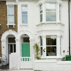 Pretty terrace house   Laura's colourful house tour   exterior   front door   sahs windows   terrace house   PHOTO GALLERY   Style at Home  ...