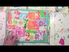 Great use of some fun products including some Gelli printed scraps by Carolyn Dube! ▶ Using the Mixed Media Inspiration Deck on a Canvas - YouTube