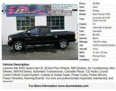 2003 Dodge Ram Pickup 1500 Laramie 4dr 4WD Quad Cab LB