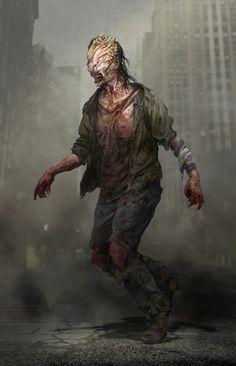 Monster Concept Art, Game Concept Art, Post Apocalypse, Apocalypse Survival, The Last Of Us, Zombie Art, Video Game Art, Horror Art, Creature Design