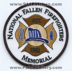 National Fallen Firefighters Memorial Patch Maryland MD