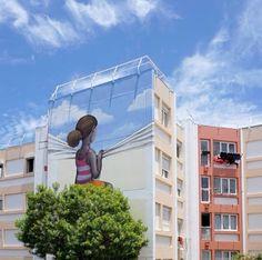 Mural num subúrbio de Paris, do artista Seth  (French street artist Julien Malland, otherwise known as Seth Globepainter)