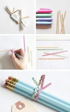use a sharpie to twist ties