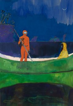 Peter Doig, Spearfishing, 2013, oil on linen, 288 x 200 cm www.peterdoig.mbam.qc.ca www.michaelwerner.com