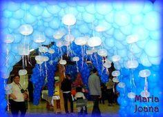 Túnel de balões - Tema Procurando Nemo.