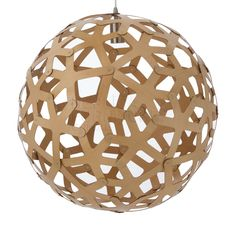 Replica David Trubridge Coral Pendant 60cm -- The replica David Trubridge Coral Pendant represents a progression in modern lighting design, where nature and organic materials combine to inspire unique lighting products.    The Coral Pendant is based on the geometric polyhedron.   The many pieces that make up this design are identical, with the fingers appearing to grow outwards as does coral.  Please Note: our Replica David Trubridge Coral Pendant comes Fully Assembled, unlike other ...