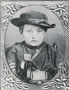 """The most famous of the dozens of young drummer boys was Johnny Clem of Newark, Ohio (1851-1937). He went to war at the age of ten. Clem made the army a career, and he retired in 1916 with the rank of major general. He is the youngest soldier ever to receive such that honor. He died in San Antonio, TX"