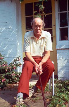 """Roald Dahl (1916-1990) """"And above all, watch with glittering eyes the whole world around you because the greatest secrets are always hidden in the most unlikely places. Those who don't believe in magic will never find it."""""""