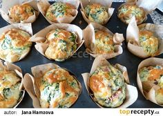 Velikonoční muffiny na slano recept - TopRecepty.cz Food Porn, Cooking Recipes, Healthy Recipes, Russian Recipes, Easter Recipes, Food Hacks, Finger Foods, Good Food, Food And Drink