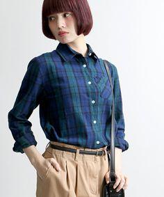 WEGO LADY'S(ウィゴーレディース)のWEGO/ネルチェックシャツ(シャツ/ブラウス) グリーン