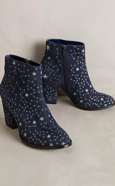 Billy Ella Embroidered Star Booties #anthrofave